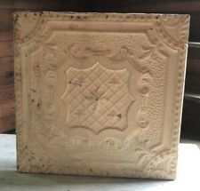 1890's 23 x 23 Antique Tin Ceiling Tile Malt Brown Wrapped Wall Art 448-18