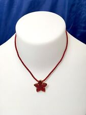 Lalique Oceania Pendentif Star fish Rouge - Crystal Pendant Red 76408- NEW