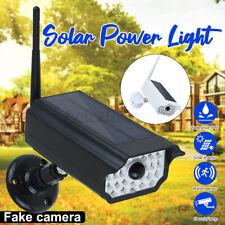 Solar Power Dummy Fake Security Camera PIR Motion Sensor LED Light Wall   F