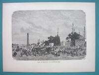 CONSTANTINOPLE Atmeidan or Hippodrome Turkey - 1887 Wood Engraving