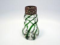 Antique Loetz Kralik Era Jugendstil Art Nouveau Green Swirl Glass Vase