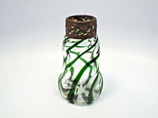 Antique Loetz Kralik Era Jugendstil Art Nouveau Green Swirl Glass Vase