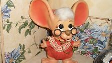 VTG Huron Products Topo Gigio Big Ear Mrs. Claus Plastic Mouse Bank Christmas