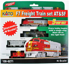 Kato N 4 Car Freight Train Set with Santa Fe F7A Locomotive DC DCC Ready 1066271