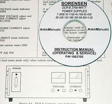 SORENSEN DCR-B 2700Watt Series Power Supplies Instruction Manual
