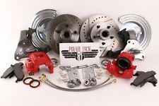 1962-1972 B&E Body Challenger/ Charger Disc Brake Kit Red Powder Coated Calipers