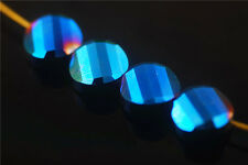 Wholesale Loose Faceted Glass Crystal Twist Tile Spacer Beads Findings 14mm