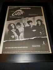 The Cure Rare Original Westwood One Bbc Radio Concert Promo Poster Ad Framed!