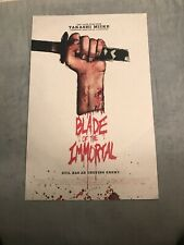 BLADE OF THE IMMORTAL NEW YORK COMIC CON PROMO PRINT ABOUT 11 x 17