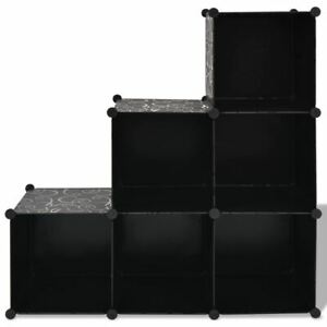 Cube Storage Unit Decorative Home Organiser Book Display Stand 6 Cubes Shoe Rack