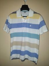 Brooks Brothers Multi-Color Stripe Performance Polo Knit Shirt Sz L-Slim Fit