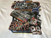 Vintage Kevin Harvick XL Mens White T Shirt #29 Goodwrench NASCAR Racing Chase
