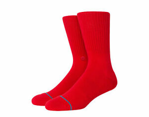 Stance Icon Classic Crew Red Socks M311D14ICO-RED