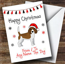 Beagle From Or To The Dog Pet Personalised Christmas Card