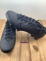 Nike Mercurial Vapor 13 Elite FG Soccer Cleats Black Men's size 6 (AQ4176-001)