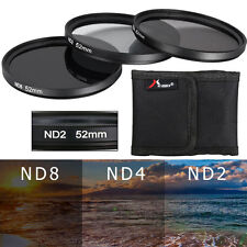 3pcs 52mm ND2 ND4 ND8 ND 2 4 8 ND Filter Set for Nikon D7000 D5100 D3100 LF60