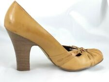 Womens Shoes Xhilaration Pumps Slip On Formal High Heels Bow Brown Size 9.5
