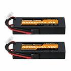 2pcs Youme 7.4V 6200mAh 2S LiPo Battery 50C Traxxas for RC  Car Truck  Buggy