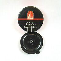 Vintage 1950s Typewriter Ribbon Tin Codo Super-Fiber w/ Ribbon Remington Black
