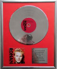 "Ronan Keating Ronan CD Cover +12"" Vinyl goldene /platin Schallplatte"