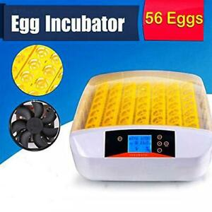 Newest Automatic 56 Eggs Hatching Incubator with Egg Candler LED 110V