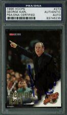 Sonics George Karl Authentic Signed Card 1996 Hoops #273 PSA/DNA Slabbed