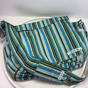 JuJuBe Better Be Diaper Blue Stripes Messenger