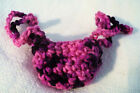New Hand Crocheted Pink  Black NOSE WARMER Winter Sports Clothing Unisex