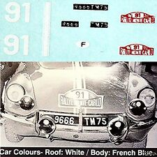 Citroen DS 21 Rallye Monte Carlo 1967 #91 Jean Rives 1:87 Pegatina Adhesivo