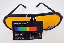 Aviator Sunglasses ~ Amber Blue Blocker Lens for Sports, Driving, Golf NEW