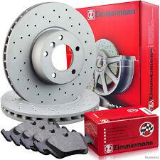 Zimmermann Bremsen Set Sport Bremsscheiben & Beläge & Wako Peugeot 407 Vorne