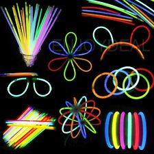 100X  Glow Sticks Bracelet Necklaces Neon Party Lights Premium Party Favors