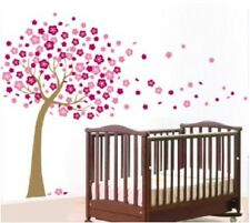 Giant Pink Cherry Blossom Flowers Tree Wall Stickers Art Mural PROMOTION SELLING