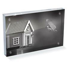 "Photo Block 6 x 4""  - BW - Flying Tit Bird House Garden  #42566"