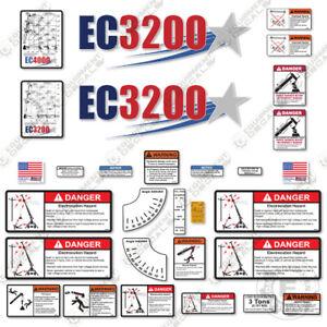 Stellar EC3200 Decal Kit Full Safety Stickers with Logos - 7 YEAR 3M VINYL!