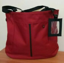 Victorinox Swiss Army Red and Black Canvas Tote Bag