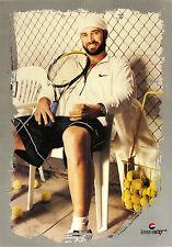Vtg Orig. Sport Poster Andre Agassi tennis with original signature signed