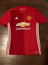 Manchester United Adidas Soccer Jersey Mens Small Excellent Condition