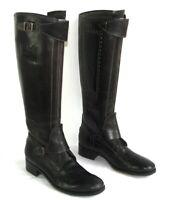 LA MARTINA Bottes véritables cavalières cuir noir et marron 39 EXCEL. ETAT BOITE