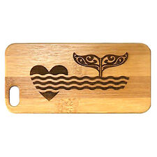 Whale Fluke Case made for iPhone 8 Plus phone Bamboo Wood Cover Tribal