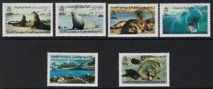 ANIMALS :1991 SOUTH GEORGIA- Elephant Seals set  SG203-8 MNH