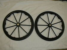 WHEELCHAIR PARTS - INVACARE REAR WHEELS TIRES & HANDRIMS - GENUINE