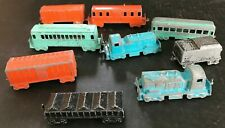 (9) Vintage 1950's Midgetoy Train Car Lot includes 2 Engines Rockford, ILL.