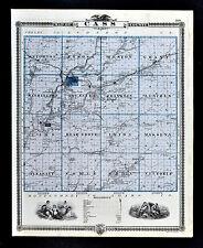 1875 Iowa Map - Cass County - Atlantic Lewis - Osceola Murray Hopeville Clarke