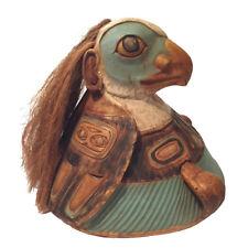 Northwest Coast Native Art Tlingit Style Eagle War Helmet Tribal Art Decor