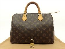Louis Vuitton Authentic Monogram Speedy 30 Hand Bag Purse Auth LV