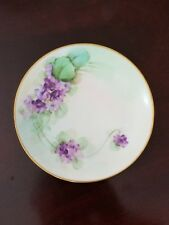 Antique 1912-1918 Pickard China Hand Painted Plate Purple Violets Signed Marker