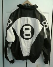 Vintage Mens 8 Ball Leather Jacket American Design X Large