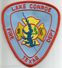 "Lake Conroe, TX  (3.75"" x 4.25"" size)  fire patch"