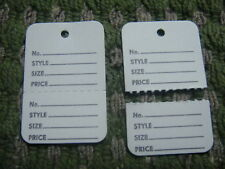 Clothing Price Tagging Tag Gun Hang Paper Labels White